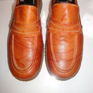 Levi's Brown Leather Loafers